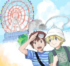 Digimon Adventure 02, All Art, Fan, Anime, Fictional Characters, Cartoon Movies, Hand Fan, Anime Music, Fantasy Characters