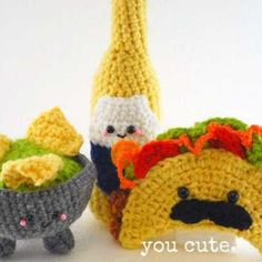 Taco Shop Trio amigurumi crochet pattern by You Cute Designs