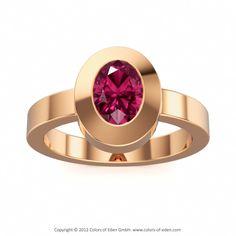 Pink Tourmaline Rose Gold Ring Charisma #Engagement