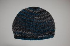 Unisex Teen/Adult Ribbed Beanie in Grey Teal and by CrochetingKeri, $12.00