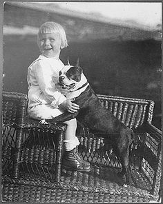 Future President Gerald R. Ford poses with his pet Boston Terrier. 1916.  http://www.fordlibrarymuseum.gov/avproj/hseries/1916.asp