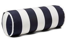Cabana Stripe 8x20 Outdoor Bolster Pillow - Navy
