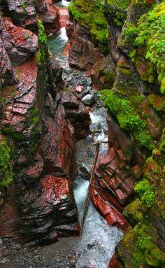Red Rock Canyon, Waterton Provincial Park, Alberta, Canada
