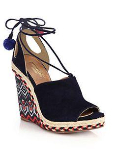 Aquazzura - Palm Springs Wedge Sandals