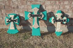 Wooden crosses I painted.