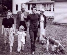Marlon Brando with his family (1951)