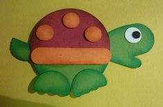 Turtle Craft made from Stampin Up Mitten Punch