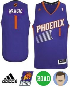 0332502734c0 Men s Goran Dragic  1 Purple Swingman Road Jersey. inbamart.com. Phoenix  SunsRevolutionNbaMeshFishnetTulle