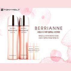 Berrianne Skin and Lotion creates soft and silky moisture protection veil that protects skin to protect skin against external and harmful factors and create peaceful and stable skin.  #tonymoly #hawaii #ighawaii #love #instagood #followforfollow #photooftheday #cool #pink #cosmetic #instacool #like4like #tagsforlikes #squareDroid