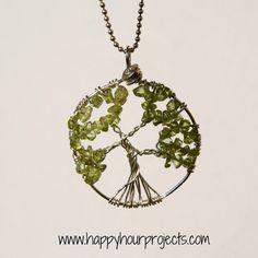 Free Wire-Wrapped Tree of Life Necklace Tutorial. Well illustrated with lots of pictures.