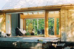 Georgian Bay cottage - Architect Leo Mieles--like the idea of two walls of windows