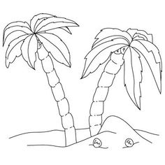 Draw Dinosaurs How to Draw Palm Trees Drawing Lessons For Kids, Art Lessons, Animal Drawings, Cool Drawings, Palm Tree Outline, Trees Drawing Tutorial, Easy Pictures To Draw, Palm Tree Drawing, Learn To Draw