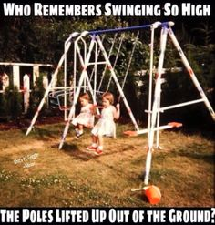 Yes, if you swung too high , the posts come out of the ground. AND  once  the whole thing fell on top of us! But, we made it out alive........