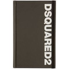 DSQUARED2 Notebook (600 MXN) ❤ liked on Polyvore featuring home, home decor, stationery and black