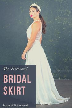 Introducing the first dress-less bridal collection offering brides & bridesmaids a range of luxury jumpsuits, playsuits and two pieces all handmade in England. Bridal Skirts, Wedding Skirt, Bridal Tops, Bridal Lace, London Models, Bridal Jumpsuit, Alternative Wedding Dresses, Bridal Separates, Brides And Bridesmaids