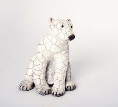 White bear by Lisa Wilkinson (Yellowhead County, AB). Member of the Alberta Craft Council