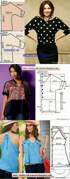 Amazing Sewing Patterns Clone Your Clothes Ideas. Enchanting Sewing Patterns Clone Your Clothes Ideas. Blouse Patterns, Clothing Patterns, Skirt Patterns, Coat Patterns, Sewing Patterns, Fashion Sewing, Diy Fashion, Sewing Blouses, Make Your Own Clothes