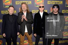 """John Paul Jones, Robert Plant, Jimmy Page and Jason Bonham attend the premiere of """"Led Zeppelin: Celebration Day"""" at Ziegfeld Theatre on October 2012 in New York City. Get premium, high resolution news photos at Getty Images Sound Of Music, Music Is Life, Good Music, Jimmy Page, Robert Plant, Great Bands, Cool Bands, Classic Rock Bands, John Paul Jones"""