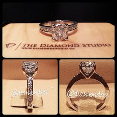 Dream Engagement ring except I want a princess cut diamond in the middle!