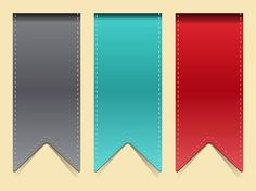 Bookmark Strips vector free
