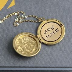 Initial Locket Personalized Locket Necklace Gold Locket