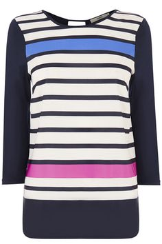 ENGINEERED STRIPE WOVEN FRONT - Oasis €31