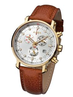 100832a16840 Urs Auer ZU-611 Classic Gold Chronographe pour Hommes SWISS ISA Urs Auer  http