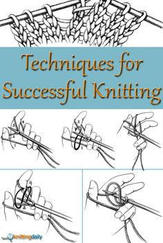 Every successful knitter needs this FREE, handy guide on knitting techniques for more successful #knitting that's the perfect reference. #knittingtechniques