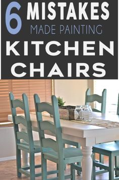 Mistakes People Make Painting Kitchen Chairs Learn how to paint your kitchen chairs correctly! Don't make these mistakes!Learn how to paint your kitchen chairs correctly! Don't make these mistakes! Painting Kitchen Chairs, Chalk Paint Chairs, Chalk Paint Kitchen, Painted Kitchen Tables, Kitchen Furniture, Painted Tables, Cabinet Furniture, Bedroom Furniture, Refinished Chairs