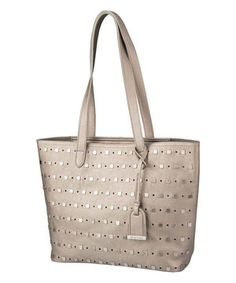 Look at this #zulilyfind! Kenneth Cole Reaction Taupe Moto Studded Medium Tote by Kenneth Cole Reaction #zulilyfinds