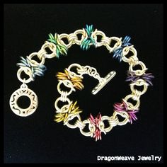 Sterling Silver #Chainmaille Bracelet by DragonweaveJewelry