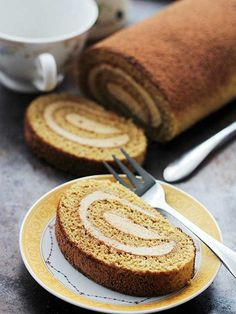 This espresso-flavored sponge cake has a touch of coffee liqueur and is filled with a perfect mascarpone whipped cream. I am not sure what I am more excited about, the cake or the filling. /