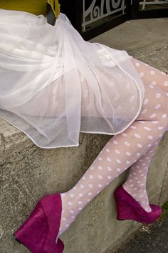sheer and opaque polka dotted tights from @tabbisocks! <3