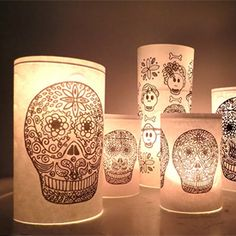 Make calaveras candle jar, free printable included