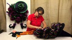 Create this adorable Halloween wreath with some deco mesh, a few accessories, and this easy-to-follow video. This witch wreath makes a great addition to any ...