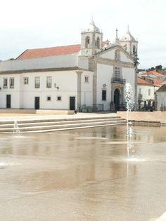Fountain and Santa Maria Church, Lagos, Portugal