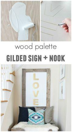 Wood Palette Gilded Sign & Nook