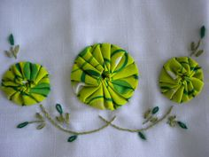 Hand Embroidery Dish Towel Set with fabric by ToodlesToTheNoodles, $15.50