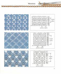Puntos Diagramas Esquemas Patrones Crochet Ganchillo: