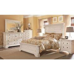 Bolanburg White Louvered Panel Bedroom Set Furniture Pinterest Bedrooms Master Bedroom