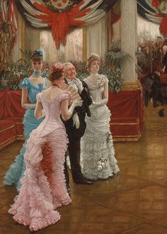 Resultado de imagen de Too Early' by James Tissot 1873