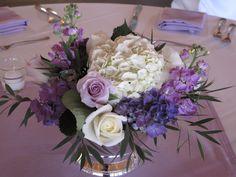 pretty purple centerpiece
