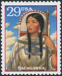 Obit of the Day (Historical): Sacagawea Sacagawea, the famed Shoshone interpreter who joined Meriweather Lewis and William Clark on their exploration of the American Midwest and Pacific Coast,. William Clark, Native American History, Native American Indians, Lewis And Clark, Stamp Printing, Stamp Collecting, First Nations, Postage Stamps, Nativity