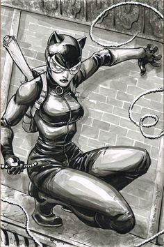 Catwoman by Freddie Williams II - Batman Poster - Trending Batman Poster. - Catwoman by Freddie Williams II Catwoman Comic, Dc Batgirl, Catwoman Cosplay, Batman And Catwoman, Batman Art, Batwoman, Batman Poster, Harley Quinn, Gotham City