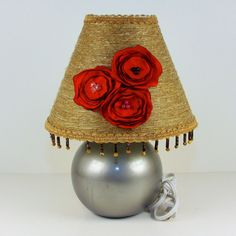 Upcycled Lamp Embellished Shade Accent Shade by GrandmasWorkbench, $29.95