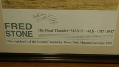www.M37Auction.com: Fred Stone Man O' War Poster