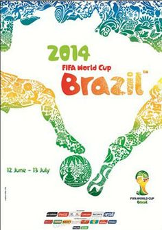 Official 2014 World Cup Poster announced. By Crama Design.