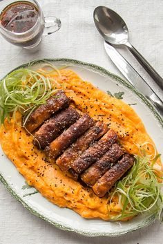 Rosana's pork belly recipe makes a great twist on a Sunday roast, with gently spiced, fantastically crispy pork belly sitting atop a bed of creamy pumpkin mash.