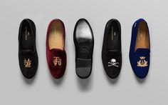 Anagrama | Romero+McPaul  Traditional English-style velvet slippers