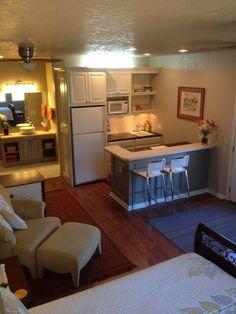 A garage conversion idea for a small living area